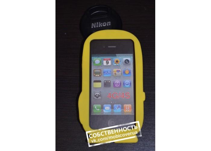 3D чехол-бампер для iPhone 4/4S (Миньон)