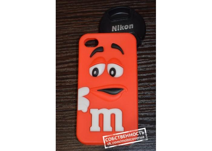 3D чехол-бампер для iPhone 4/4S (M&M's)