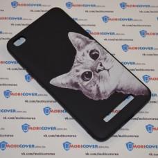 Чехол для XiaoMi Redmi 4A (Подглядывающий кот)