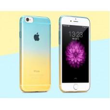 Чехол-бампер для iPhone 5/5S (Желто-голубой)