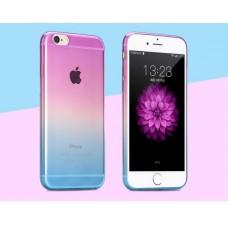 Чехол-бампер для iPhone 6 (Пурпурно-голубой)