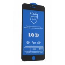 Защитное стекло 10D для iPhone 6 Plus Black