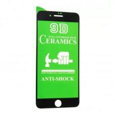 Защитное стекло Ceramics Glass для iPhone 7/8 Black