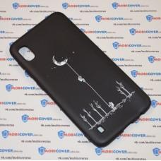 Чехол для Samsung Galaxy А10 / A105 (Человек на луне)