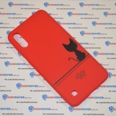 Чехол для Samsung Galaxy А10 / A105 (Черный кот)