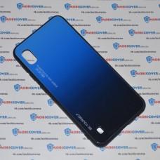 Стеклянный чехол (Синий) для Samsung Galaxy А10 / M10