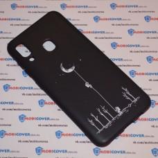 Чехол для Samsung Galaxy А20 / A30 (Человек на луне)