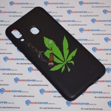 Чехол для Samsung Galaxy А20 / A30 (Smoke Marijuana)