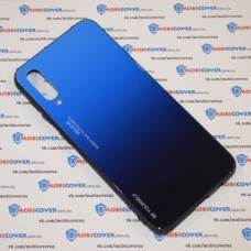 Стеклянный чехол для Samsung Galaxy А50 / A505 (Синий)