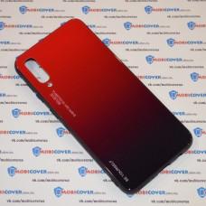 Стеклянный чехол для Samsung Galaxy А50 / A505 (Красный)