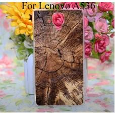 Чехол-бампер для Lenovo A536 (Дерево)