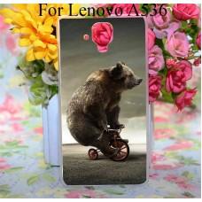 Чехол-бампер для Lenovo A536 (Медведь)