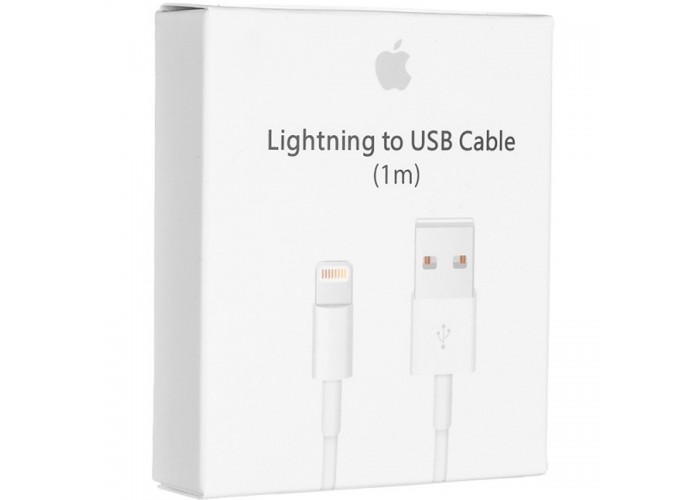 Apple кабель USB - Lightning, 1м (Белый)