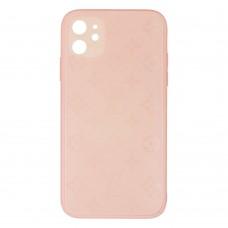 Стеклянный чехол Louis Vuitton для iPhone 11 (Персиковый)