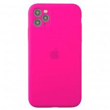 Чехол Apple Silicone Case Full Camera (Hot Pink) для iPhone 11 Pro Max
