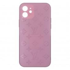 Стеклянный чехол Louis Vuitton для iPhone 12 (Черника)