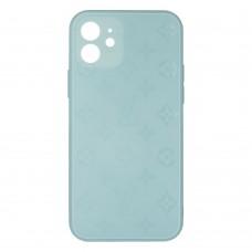 Стеклянный чехол Louis Vuitton для iPhone 12 (Бирюзовый)