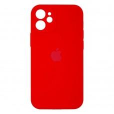 Чехол Apple Silicone Case Full Camera для iPhone 12 Mini (Red)