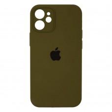 Чехол Apple Silicone Case Full Camera для iPhone 12 Mini (Virid)