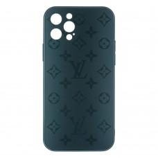 Стеклянный чехол Louis Vuitton для iPhone 12 Pro (Зеленый)