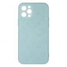 Стеклянный чехол Louis Vuitton для iPhone 12 Pro (Бирюзовый)
