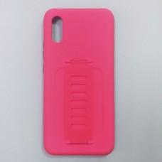 Ударопрочный чехол с силиконовым браслетом для XiaoMi Redmi 9A (Розовый)