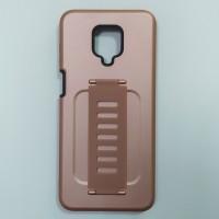 Ударопрочный чехол с силиконовым браслетом для XiaoMi Redmi Note 9 Pro / Note 9s (Золотой)