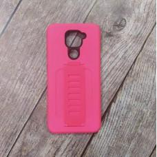 Ударопрочный чехол с силиконовым браслетом для XiaoMi Redmi Note 9 (Розовый)