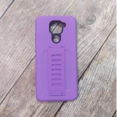 Ударопрочный чехол с силиконовым браслетом для XiaoMi Redmi Note 9 (Фиолетовый)