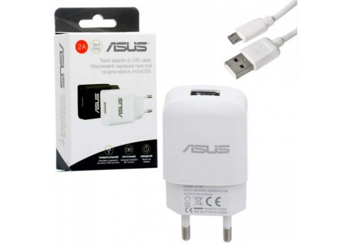 Сетевое зарядное устройство Asus YJ-06, 2A + кабель USB - Micro USB (Белый)