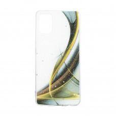 Чехол Aurora с блестками для Samsung Galaxy А31 / A315 (Коричневый)