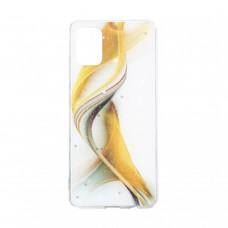 Чехол Aurora с блестками для Samsung Galaxy А31 / A315 (Желтый)