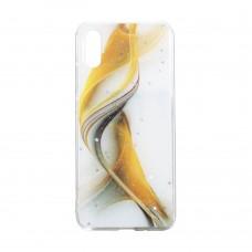 Чехол Aurora с блестками для XiaoMi Redmi 9A (Желтый)