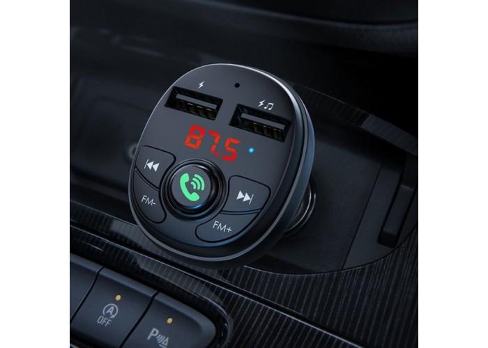 АЗУ с беспроводным FM-передатчиком Borofone BC26 / Bluetooth 5.0 / 2USB / Свободные руки