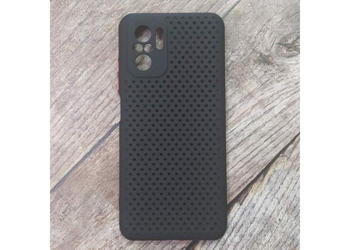 Силиконовый чехол Breathable Cover для XiaoMi Redmi Note 10 (Черный)