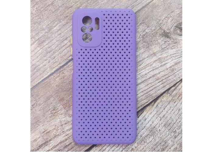 Силиконовый чехол Breathable Cover для XiaoMi Redmi Note 10 (Фиолетовый)