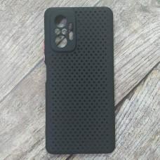 Силиконовый чехол Breathable Cover для XiaoMi Redmi Note 10 Pro (Черный)