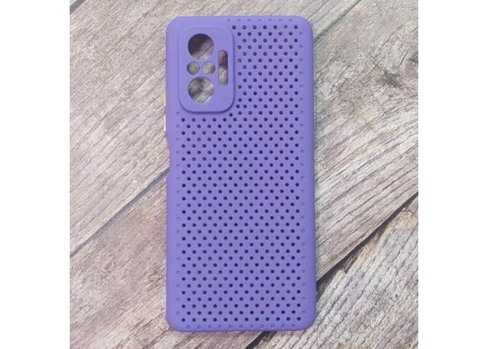 Силиконовый чехол Breathable Cover для XiaoMi Redmi Note 10 Pro (Фиолетовый)
