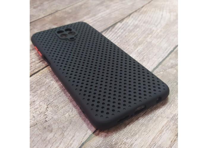 Силиконовый чехол Breathable Cover для XiaoMi Redmi Note 9 Pro (Черный)