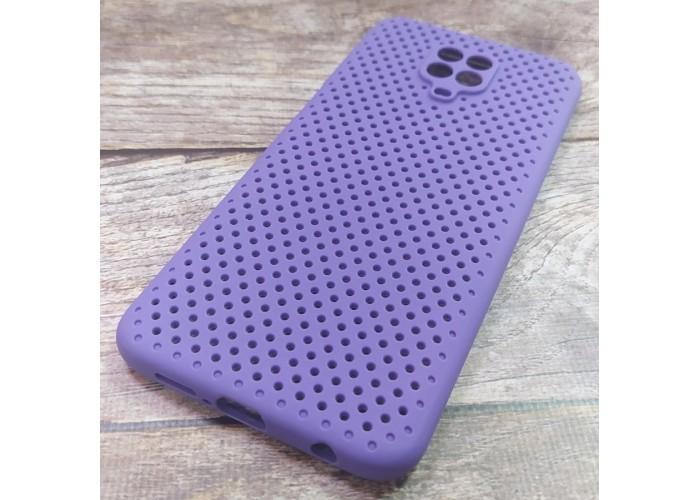 Силиконовый чехол Breathable Cover для XiaoMi Redmi Note 9 Pro (Фиолетовый)