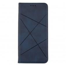 Чехол-книжка Business Leather для XiaoMi Poco X3 (Синий)