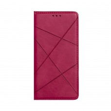 Чехол-книжка Business Leather для XiaoMi Redmi Note 9 Pro / Note 9s (Малиновый)