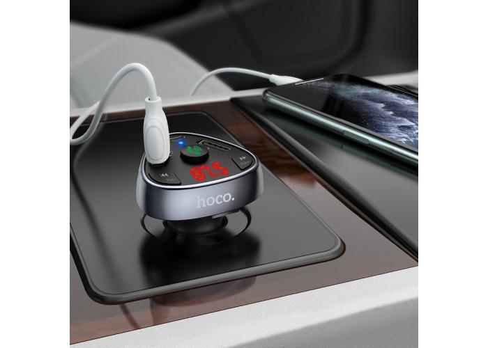 АЗУ / FM-модулятор (трансмиттер) Hoco E51 / 2USB + Type-C (PD) + Micro CD / Bluetooth 5.0