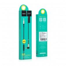 Аудио кабель Hoco UPA02 AUX cable 3.5mm - 3.5mm с микрофоном / 2м (Черный)