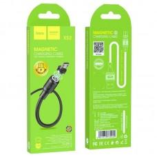Магнитный кабель Hoco X52 Magnetic USB - Micro USB, 2.4A, 1м (Черный)