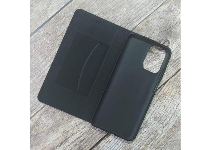Чехол-книжка Retro Wallet для XiaoMi Redmi Note 10 на магните + отсек для кредитной карты (Черный)