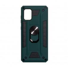 Чехол Robot Case с железным кольцом-подставкой для Samsung Galaxy A71 / A715 (Зеленый)
