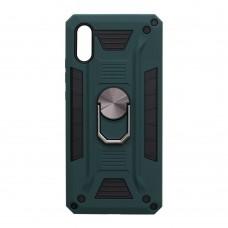Чехол Robot Case с железным кольцом-подставкой для XiaoMi Redmi 9A (Зеленый)