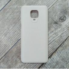 Силиконовый чехол Smooth Cover для XiaoMi Redmi Note 9 Pro (Бежевый)