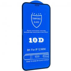 Защитное стекло 10D для iPhone 12 Mini Black